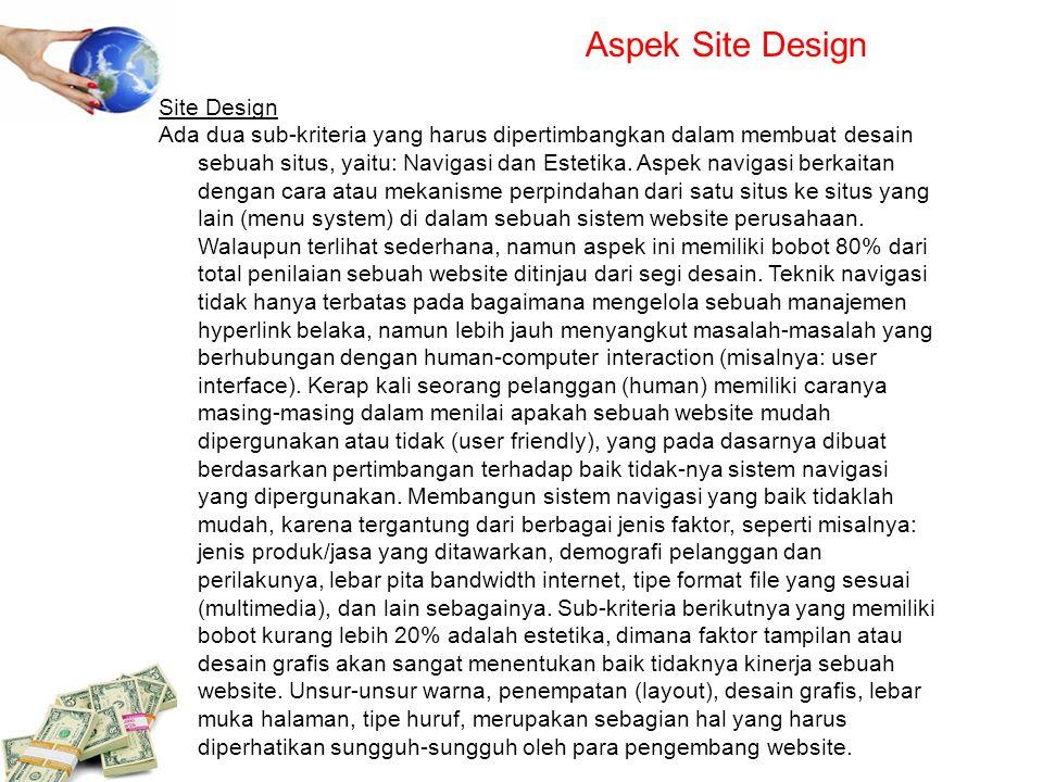 Aspek Site Design Site Design