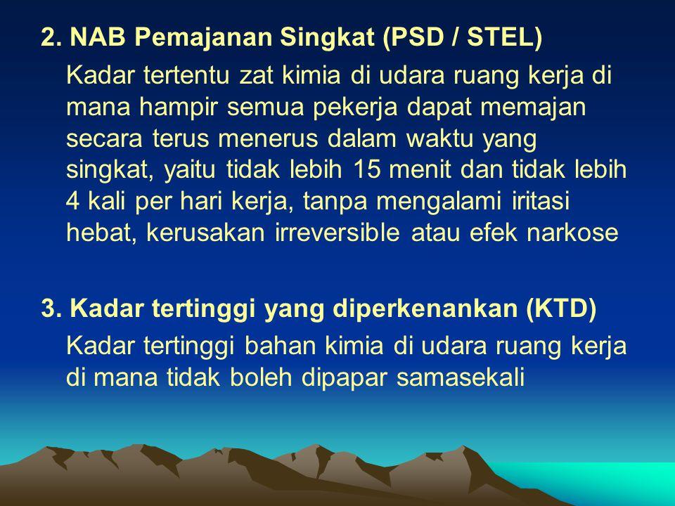 2. NAB Pemajanan Singkat (PSD / STEL)