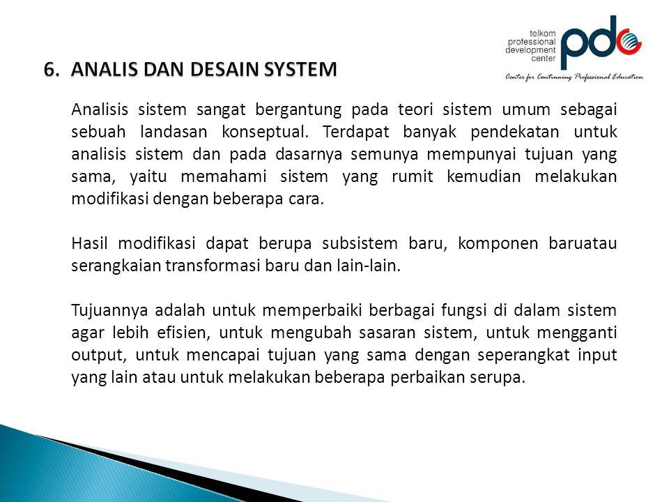 6. ANALIS DAN DESAIN SYSTEM