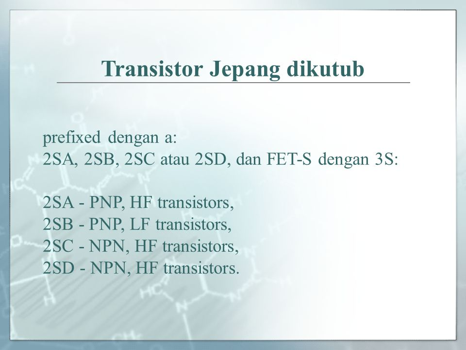 Transistor Jepang dikutub