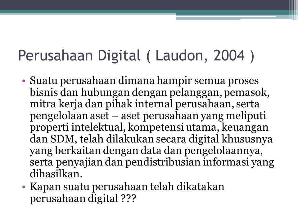 Perusahaan Digital ( Laudon, 2004 )