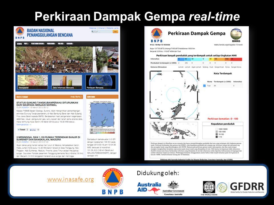 Perkiraan Dampak Gempa real-time