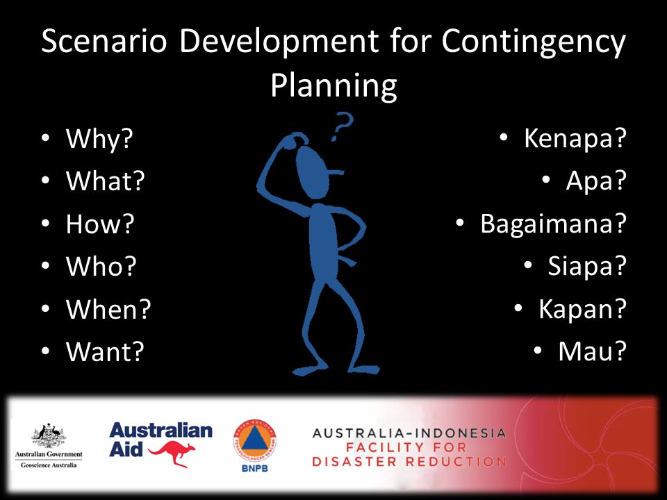 Scenario Development for Contingency Planning