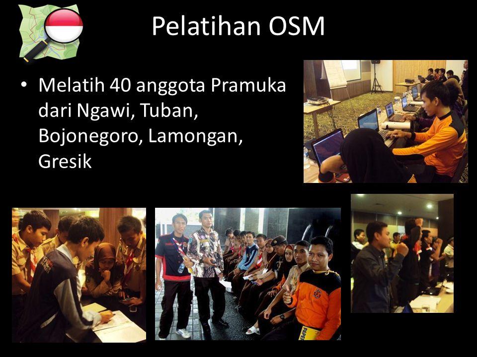 Pelatihan OSM Melatih 40 anggota Pramuka dari Ngawi, Tuban, Bojonegoro, Lamongan, Gresik