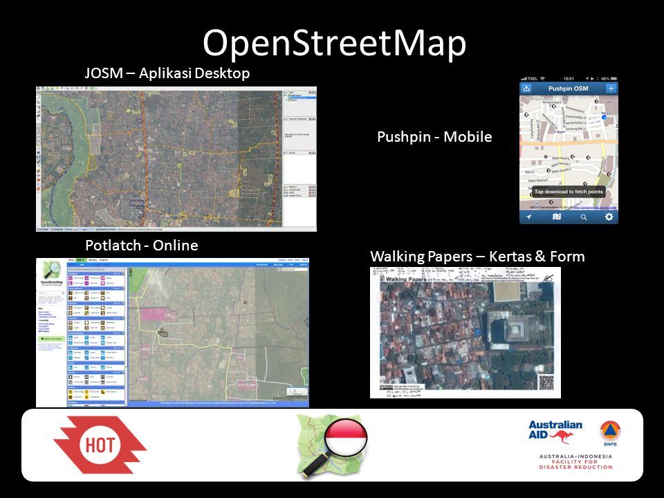 OpenStreetMap JOSM – Aplikasi Desktop Pushpin - Mobile