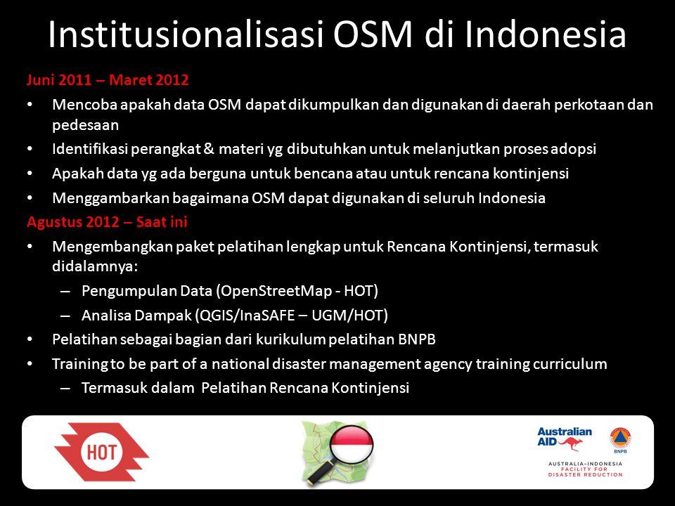 Institusionalisasi OSM di Indonesia