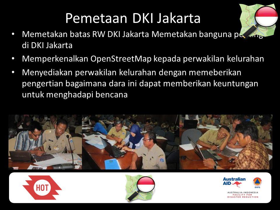 Pemetaan DKI Jakarta Memetakan batas RW DKI Jakarta Memetakan banguna penting di DKI Jakarta.