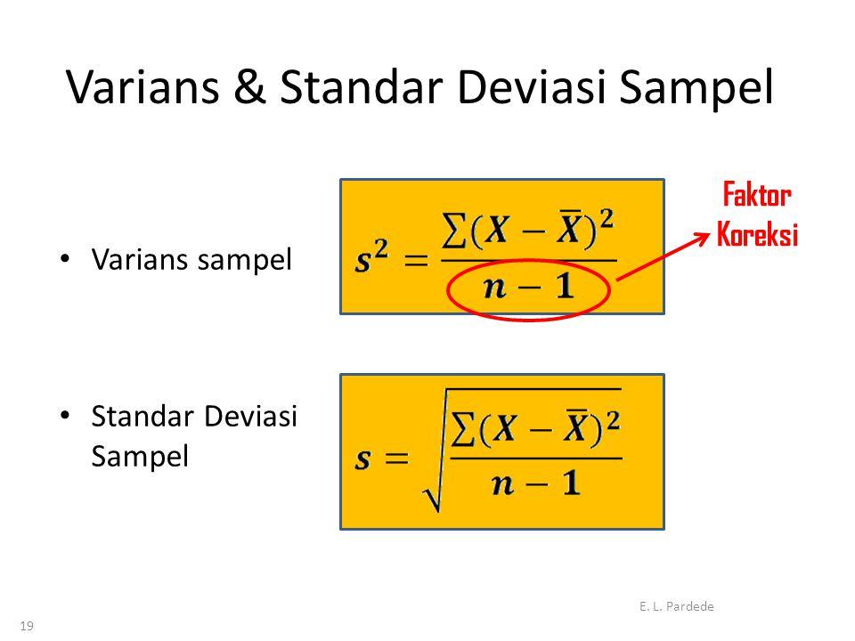 Varians & Standar Deviasi Sampel