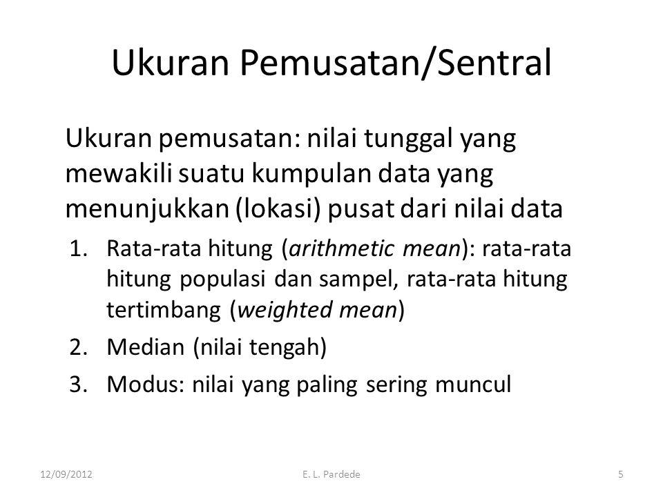 Ukuran Pemusatan/Sentral