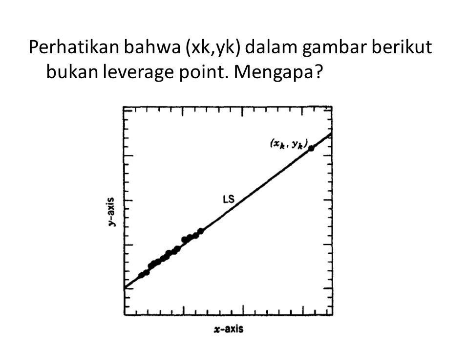 Perhatikan bahwa (xk,yk) dalam gambar berikut bukan leverage point