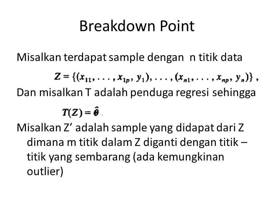 Breakdown Point
