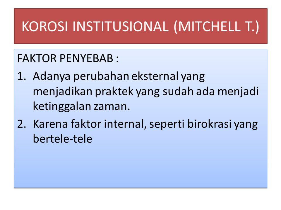 KOROSI INSTITUSIONAL (MITCHELL T.)