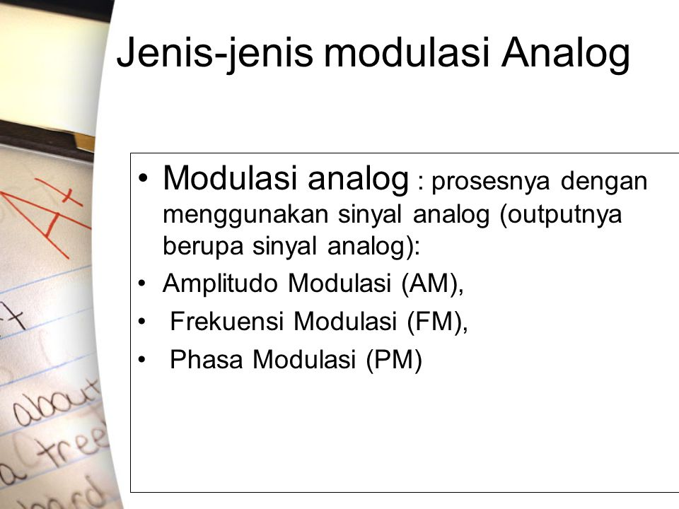 Jenis-jenis modulasi Analog