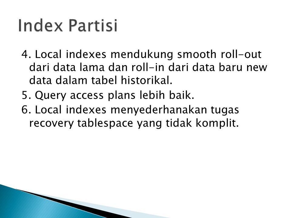 Index Partisi