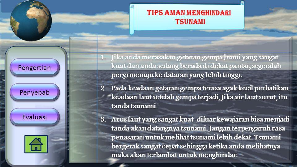 Tips aman menghindari tsunami