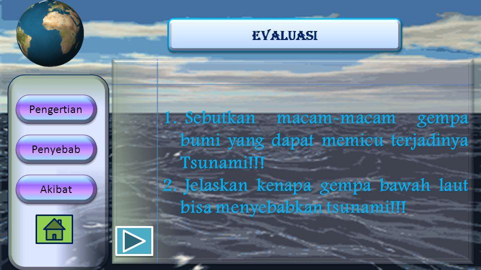 Jelaskan kenapa gempa bawah laut bisa menyebabkan tsunami!!!