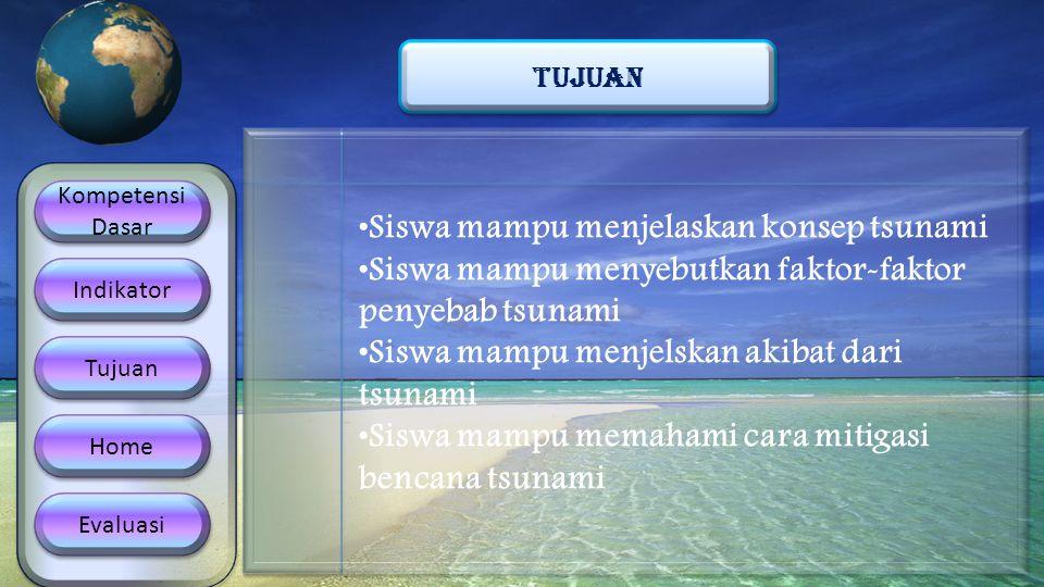Siswa mampu menjelaskan konsep tsunami