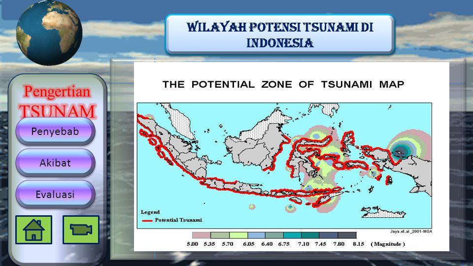 Wilayah Potensi Tsunami di indonesia