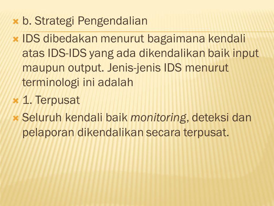 b. Strategi Pengendalian