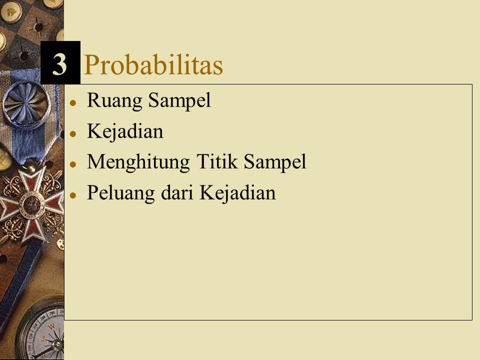 3 Probabilitas Ruang Sampel Kejadian Menghitung Titik Sampel