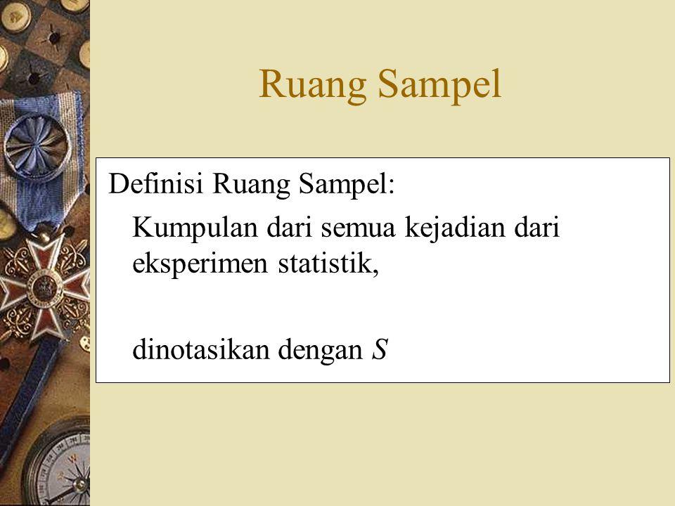 Ruang Sampel Definisi Ruang Sampel: