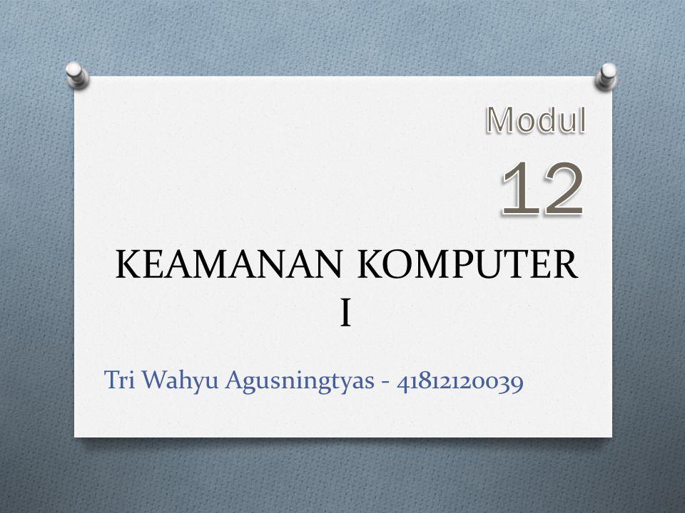 Modul 12 KEAMANAN KOMPUTER I Tri Wahyu Agusningtyas - 41812120039