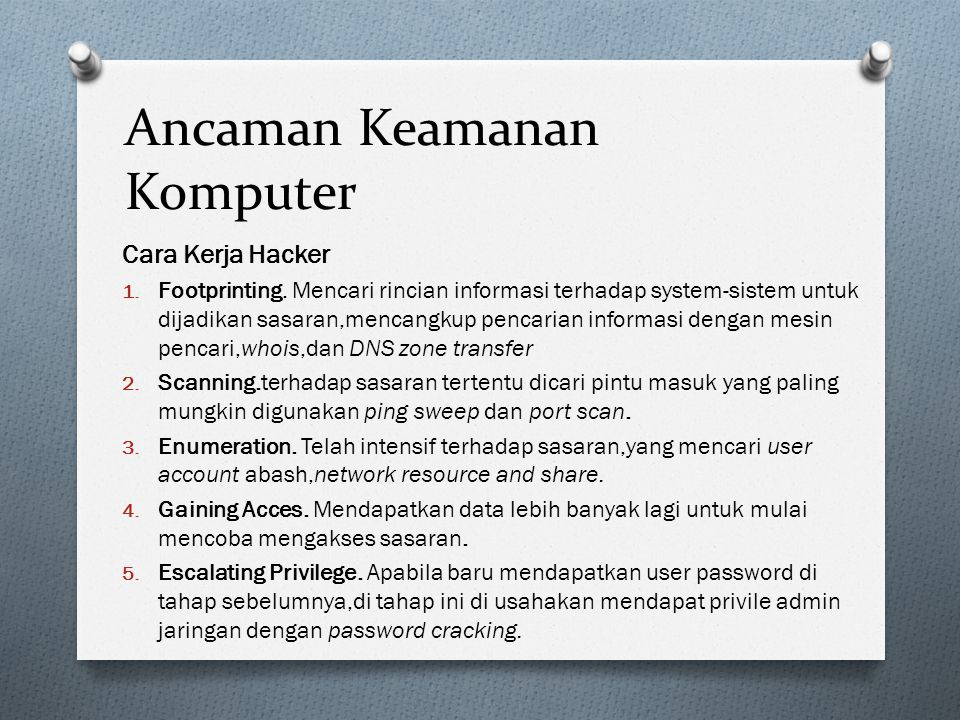 Ancaman Keamanan Komputer