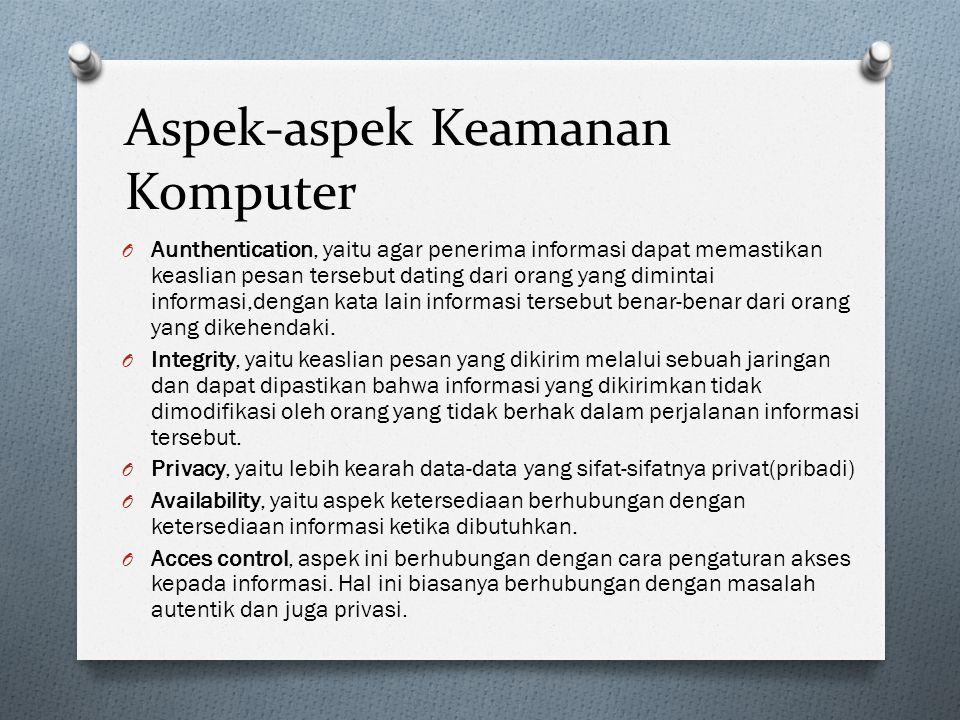 Aspek-aspek Keamanan Komputer