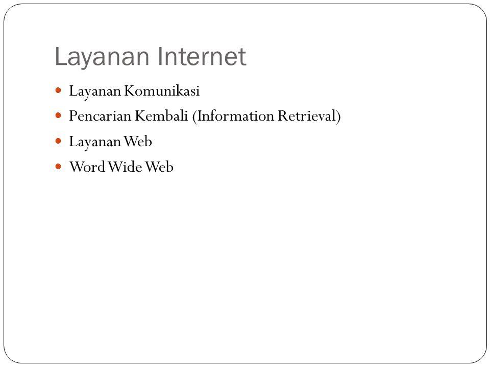 Layanan Internet Layanan Komunikasi