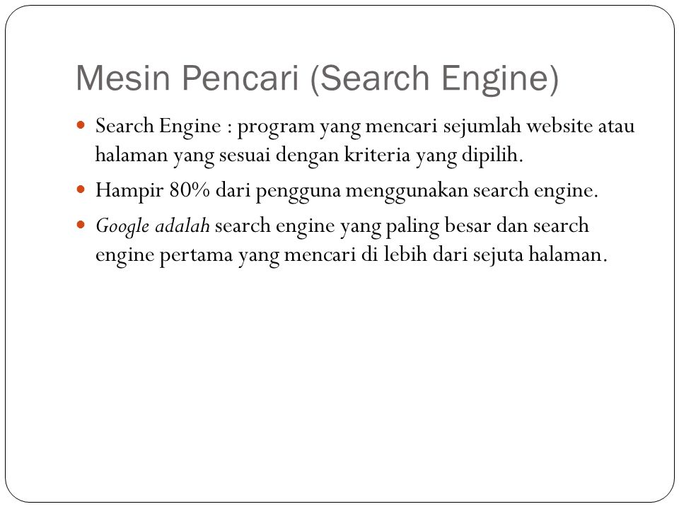 Mesin Pencari (Search Engine)