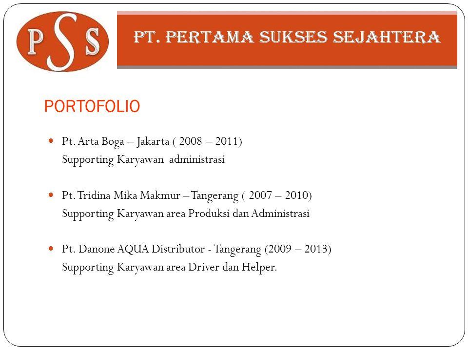 PORTOFOLIO Pt. Arta Boga – Jakarta ( 2008 – 2011)