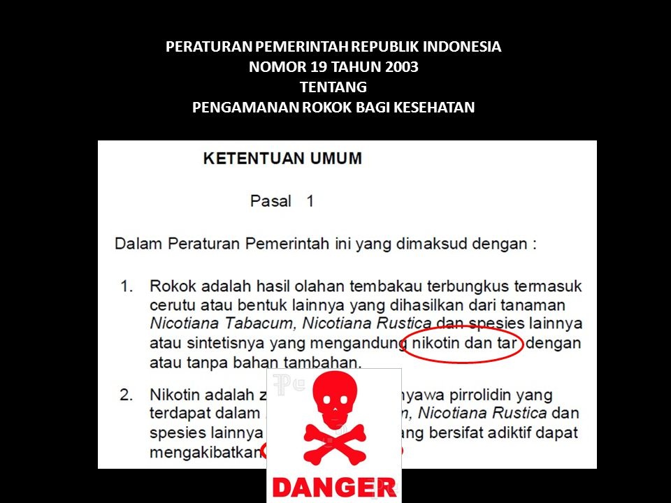 PERATURAN PEMERINTAH REPUBLIK INDONESIA NOMOR 19 TAHUN 2003 TENTANG