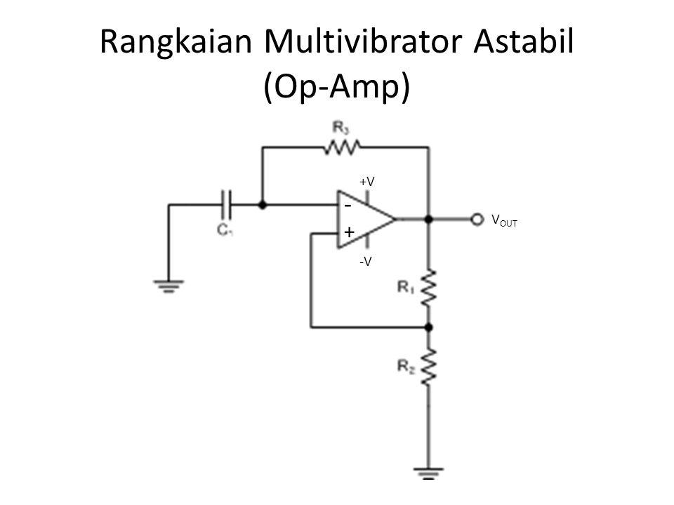 Rangkaian Multivibrator Astabil (Op-Amp)