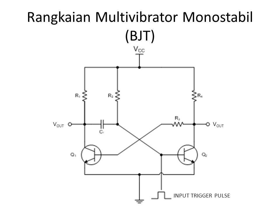Rangkaian Multivibrator Monostabil (BJT)