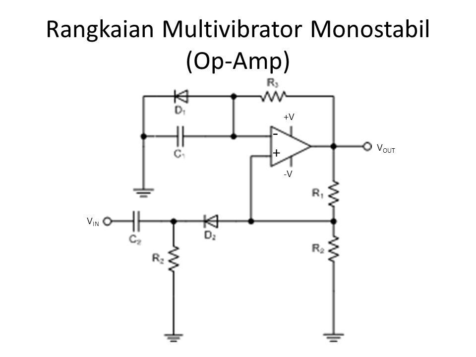 Rangkaian Multivibrator Monostabil (Op-Amp)
