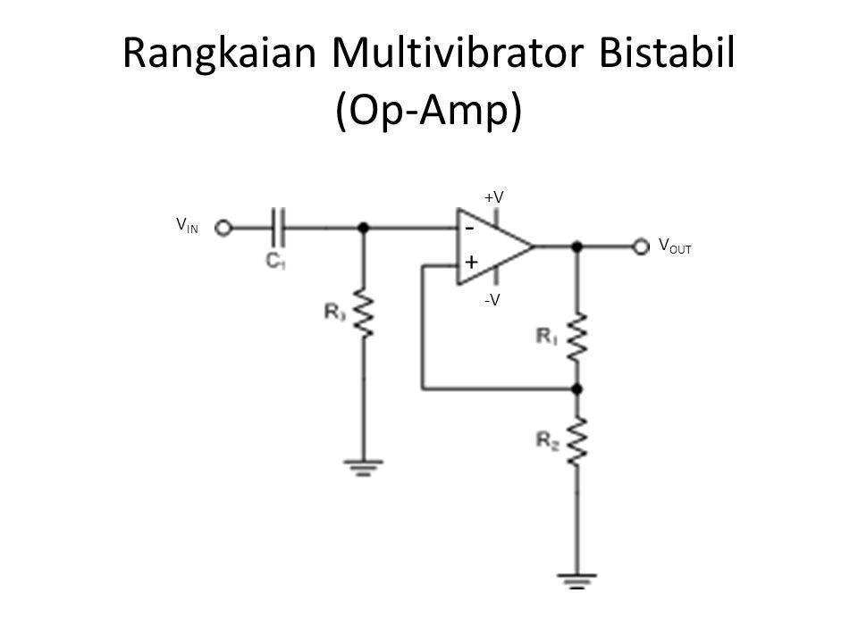 Rangkaian Multivibrator Bistabil (Op-Amp)