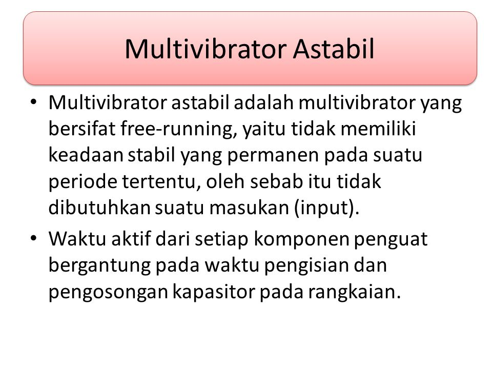 Multivibrator Astabil