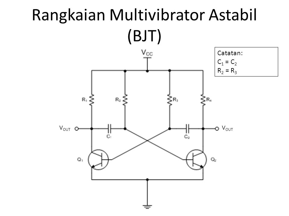 Rangkaian Multivibrator Astabil (BJT)