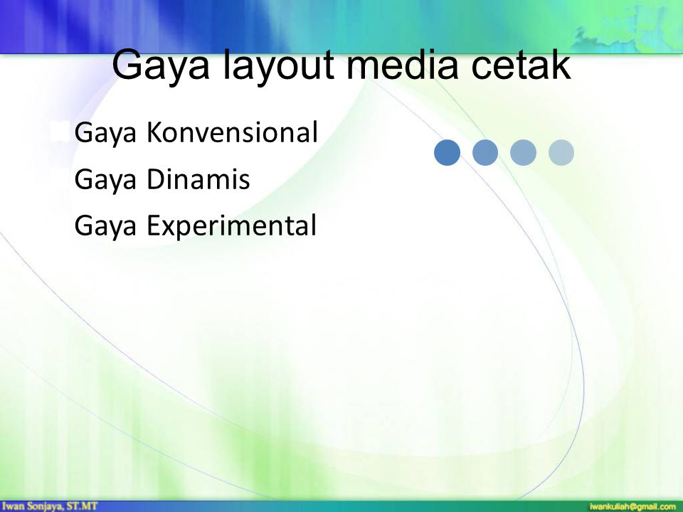 Gaya layout media cetak
