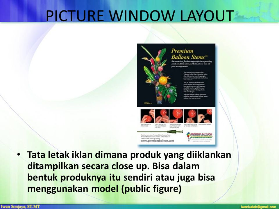 PICTURE WINDOW LAYOUT