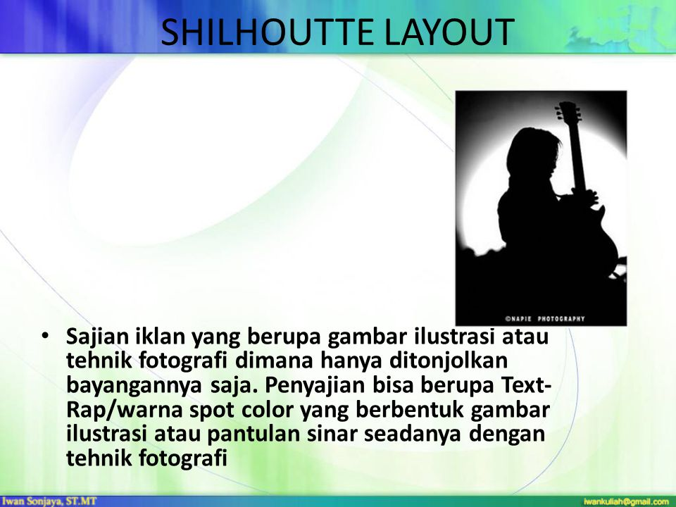 SHILHOUTTE LAYOUT