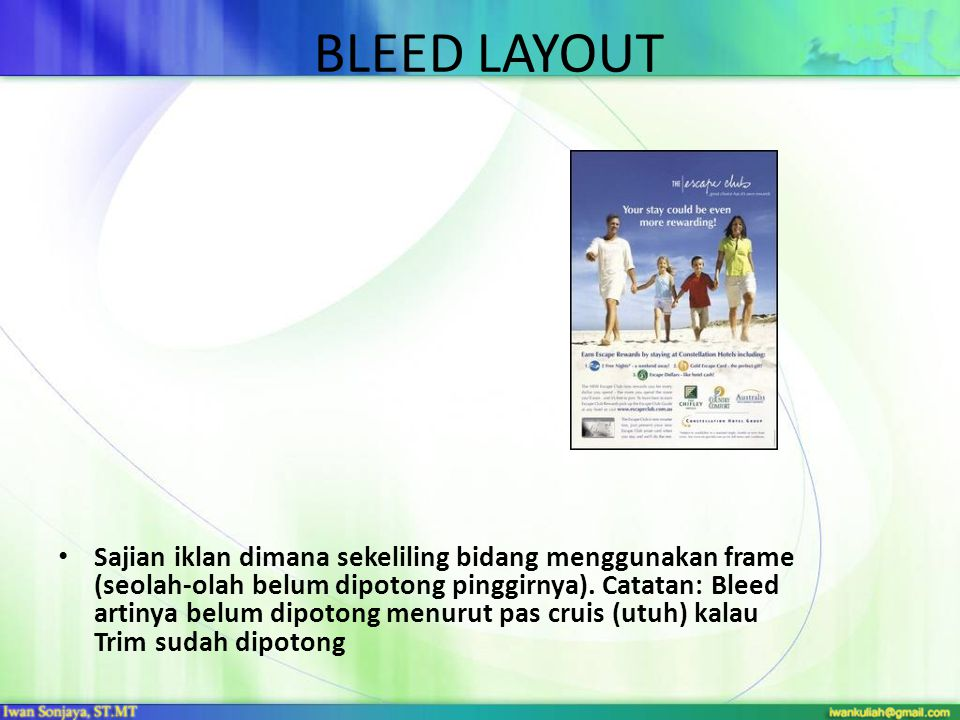 BLEED LAYOUT