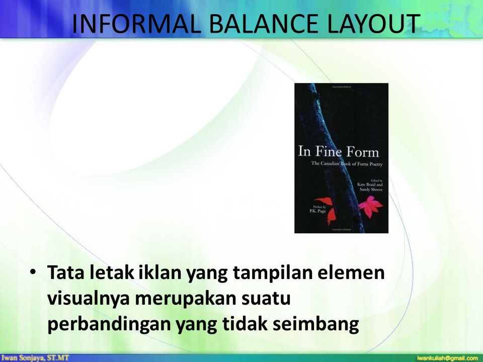 INFORMAL BALANCE LAYOUT