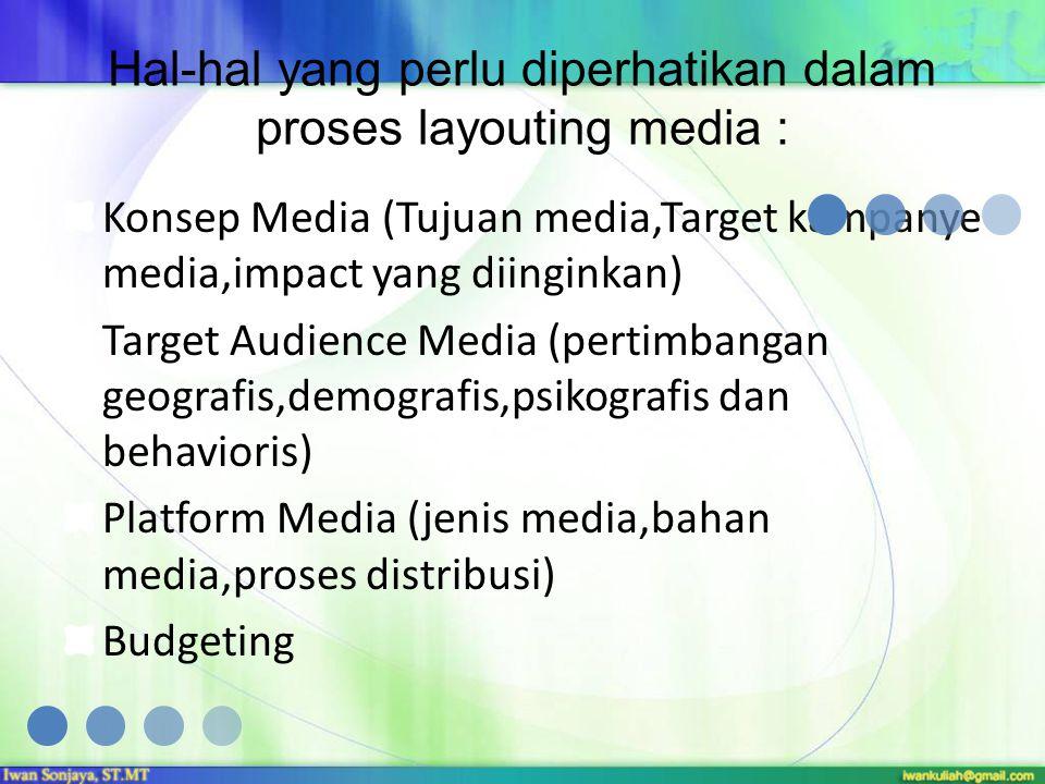 Hal-hal yang perlu diperhatikan dalam proses layouting media :