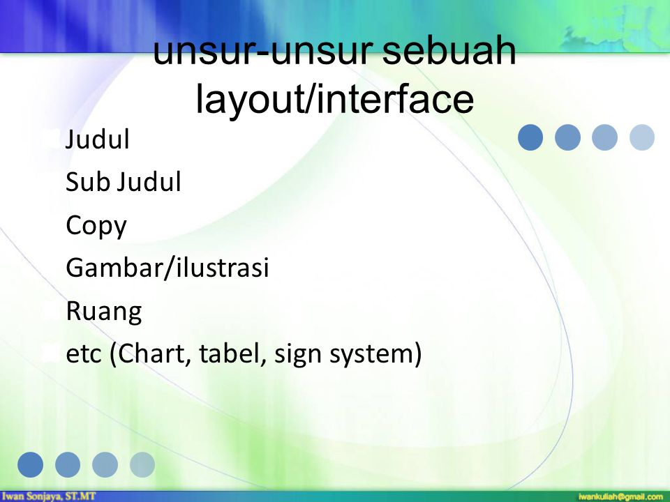 unsur-unsur sebuah layout/interface