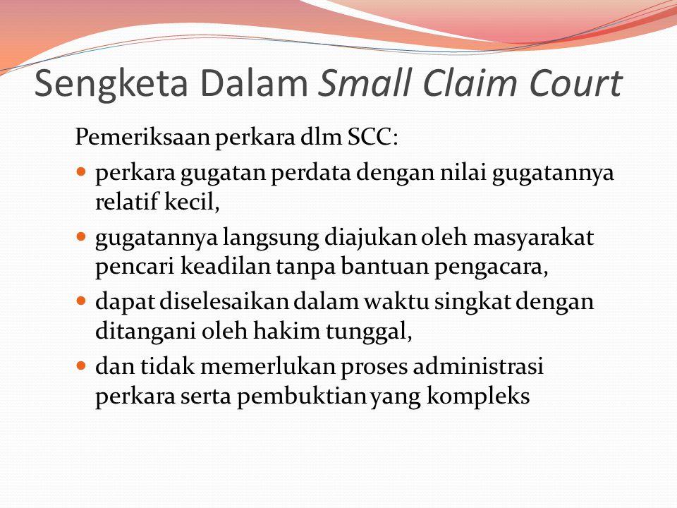 Sengketa Dalam Small Claim Court