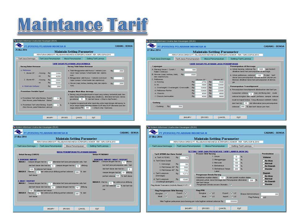 Maintance Tarif