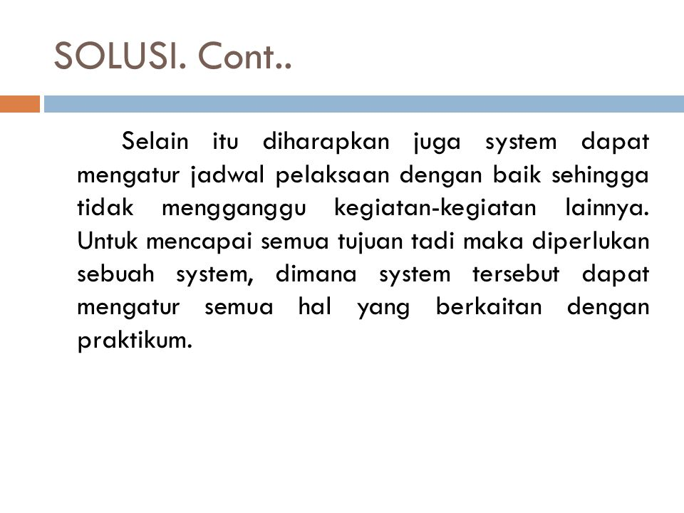 SOLUSI. Cont..