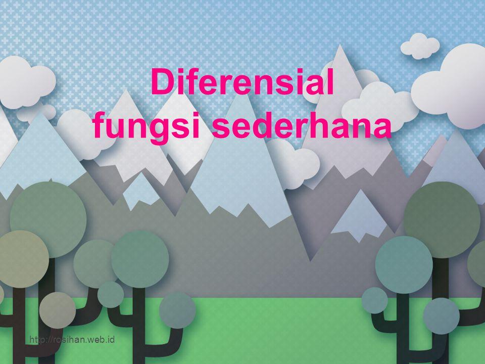 Diferensial fungsi sederhana