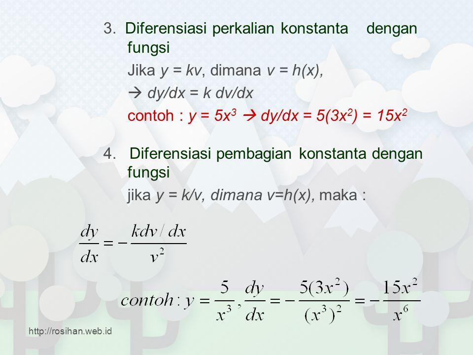 3. Diferensiasi perkalian konstanta dengan fungsi